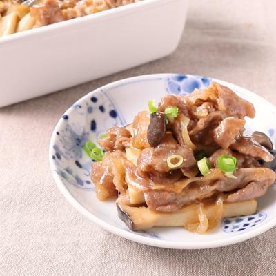 豚肉とエリンギのすき煮