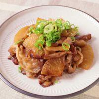 豚バラ肉と大根のはちみつ醤油炒め