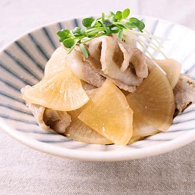 レンジで 豚肉と大根の簡単煮