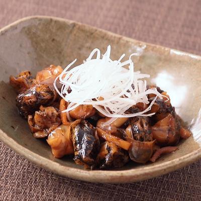 生姜香る つぶ貝の甘辛煮