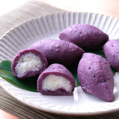まるでお芋!?可愛い紫芋のおはぎ