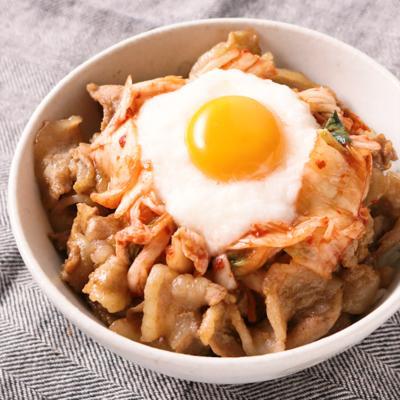 もやしご飯で 豚バラスタミナとろろ丼