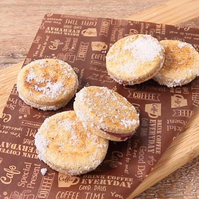 フライパンで焼く ジャムサンドクッキー