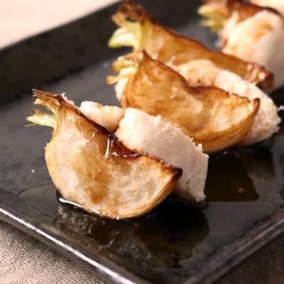 焼きカブと鶏ささみの前菜