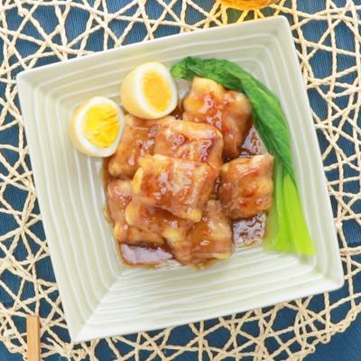 肉巻き木綿豆腐の角煮風
