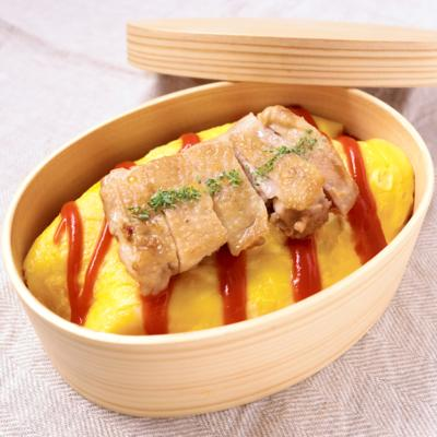 お弁当に 鶏肉のがっつりオムライス