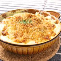チーズがとろーり じゃがいもとそら豆の簡単グラタン