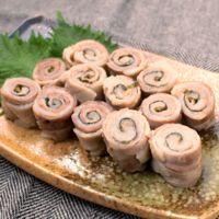 レンジで時短 豚バラ肉の梅しそ巻き