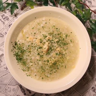 優しいマンマの味 白ネギと大麦のスープ