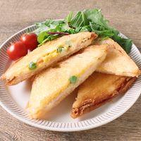 ハムチーズエッグの揚げサンドイッチ
