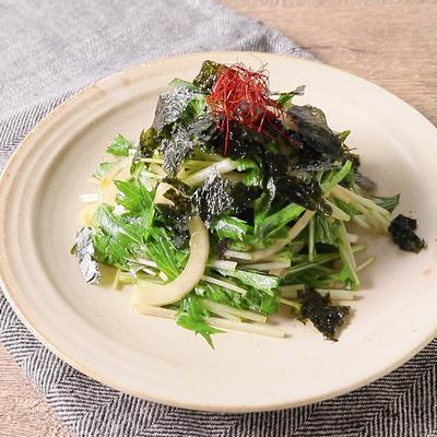 水菜と玉ねぎのチョレギ風サラダ