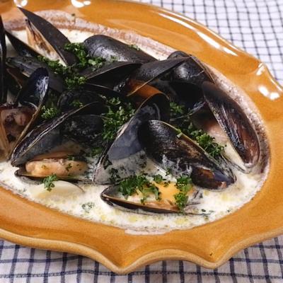ムール貝のクリーム煮