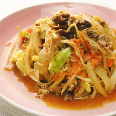 ジンギスカン風 ラム肉野菜炒め
