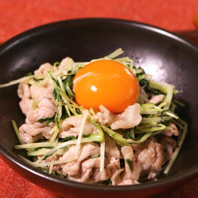 簡単おかず 豚こま肉と水菜のソテー