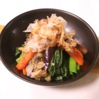 簡単副菜 ナスとにんじんと小松菜のナムル