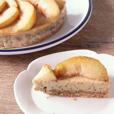 桃と紅茶のベイクドチーズケーキ