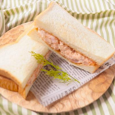 海老と明太クリームチーズのホットサンド