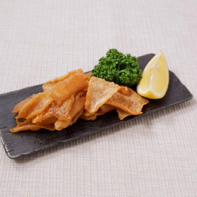 フライパンで作る簡単鶏皮せんべい