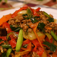 野菜たっぷり中華炒め