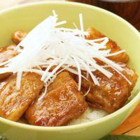 豚バラ肉の蒲焼き丼