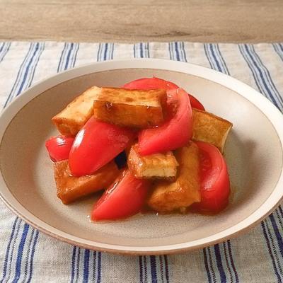 厚揚げとトマトのオイスターソース炒め