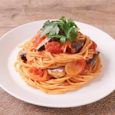オイルサーディンのトマトスパゲティ