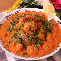 ランチやディナーに!トマトクリームスパゲティ