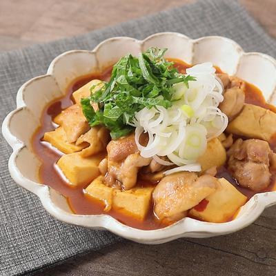 鶏肉と豆腐のからし焼き風