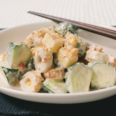 ピリ辛オーロラソースが決め手 きゅうりのサラダ