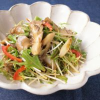 水菜とまいたけの韓国風サラダ