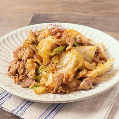 豚肉とキャベツの生姜炒め