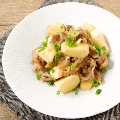 簡単 豚肉と山芋のわさび醤油炒め