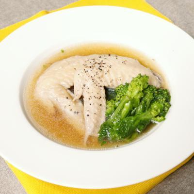 ぽかぽか鶏手羽と菜の花のしょうがスープ