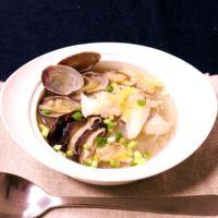 魚介ダシが美味しい!タラと春雨のあっさりスープ