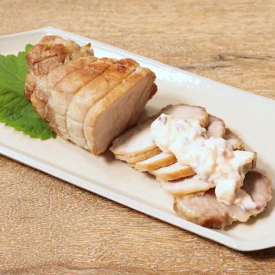 和風タルタルソースで食べるローストポーク