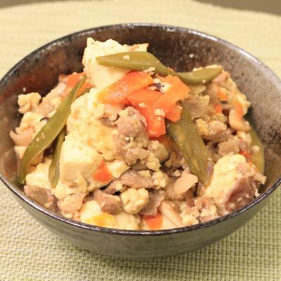 残り野菜救済!ほっこり優しい!炒り豆腐