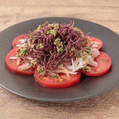 磯香る ふのりとトマトの中華風サラダ