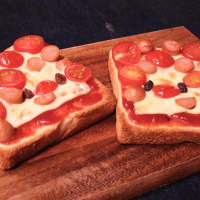 かわいい にこにこピザトースト