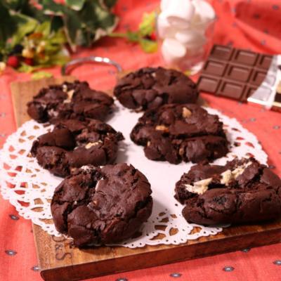 簡単サクサク!マシュマロ&チョコレートの絶品クッキー