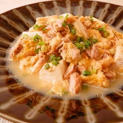 10分でつくる ツナと豆腐の卵とじ