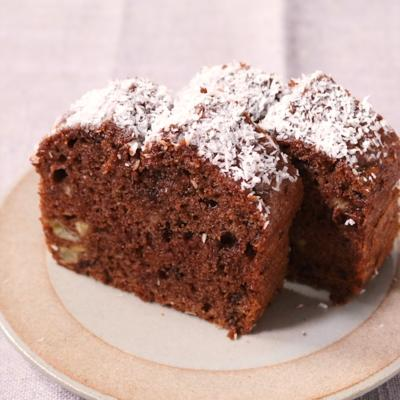 しっとり バナナココナッツチョコレートパウンドケーキ