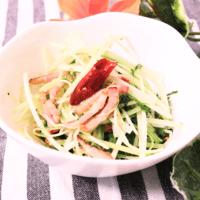簡単!水菜とベーコンのペペロンチーノ