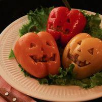Happy Halloween!パプリカの肉詰めジャックオーランタン
