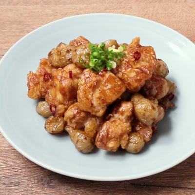 菊芋と鶏もも肉の甘酢あん