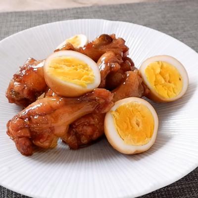 鶏手羽元と卵の甘辛煮