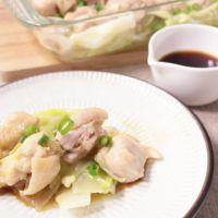 ピリッとゆず胡椒で 鶏肉とキャベツの簡単レンジ蒸し