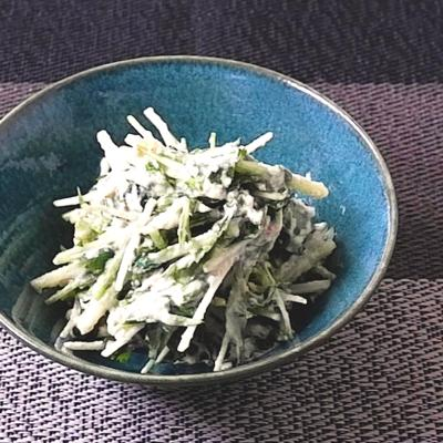 水菜と三つ葉の梅入り白和え