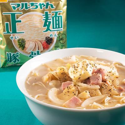 マルちゃん正麺公式 ガーリックバタポテ豚骨ラーメン