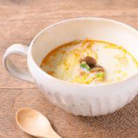 白菜と鮭フレークの豆乳スープ