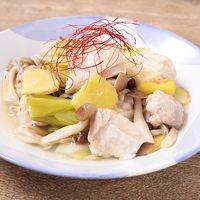 圧力鍋で鶏もも肉の中華風トロトロ塩煮